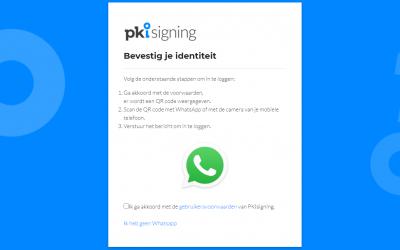 PKIsigning stapt over op WhatsApp authenticatie