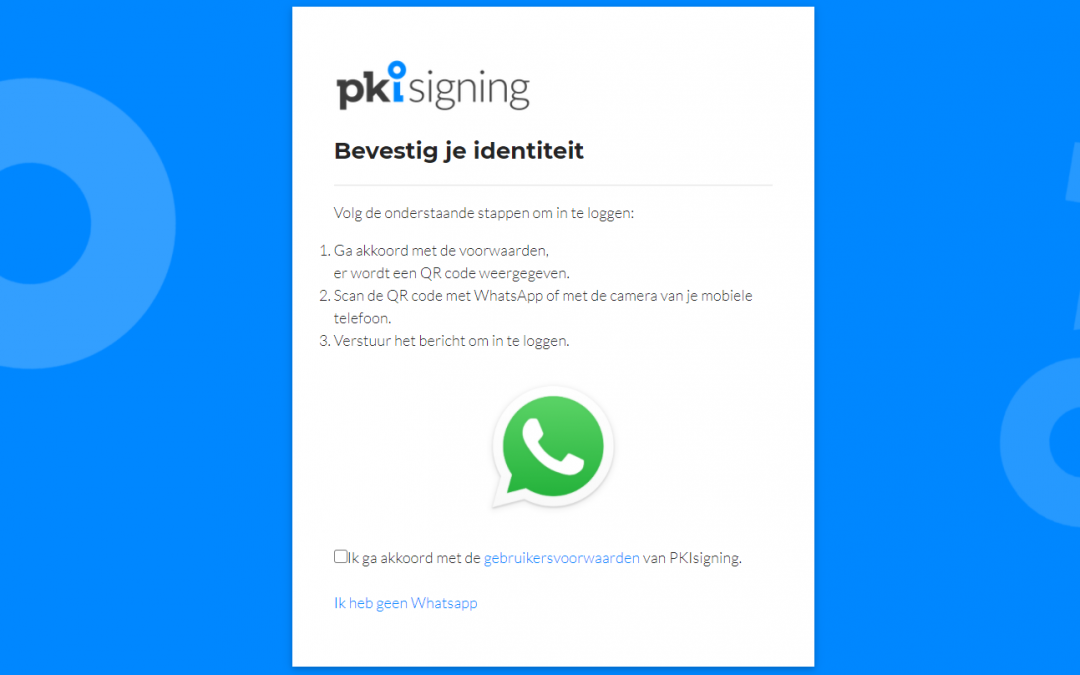 PKIsigning stapt over op WhatsApp authenticatie